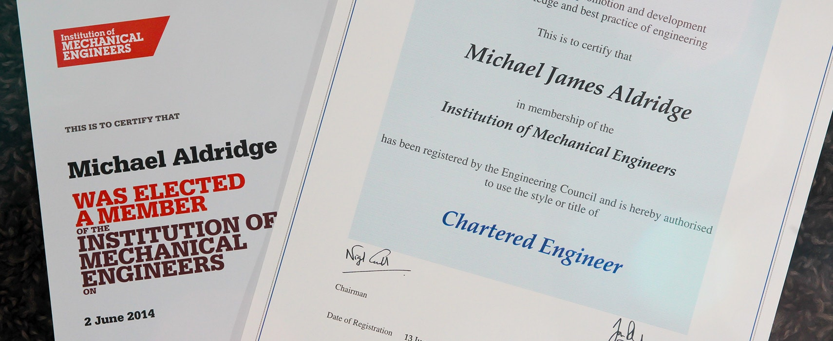 Michael Aldridge - Chartered Engineer
