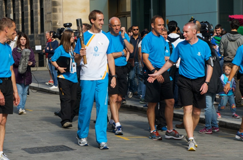 Queen's Baton Bearer 2014, Michael Aldridge