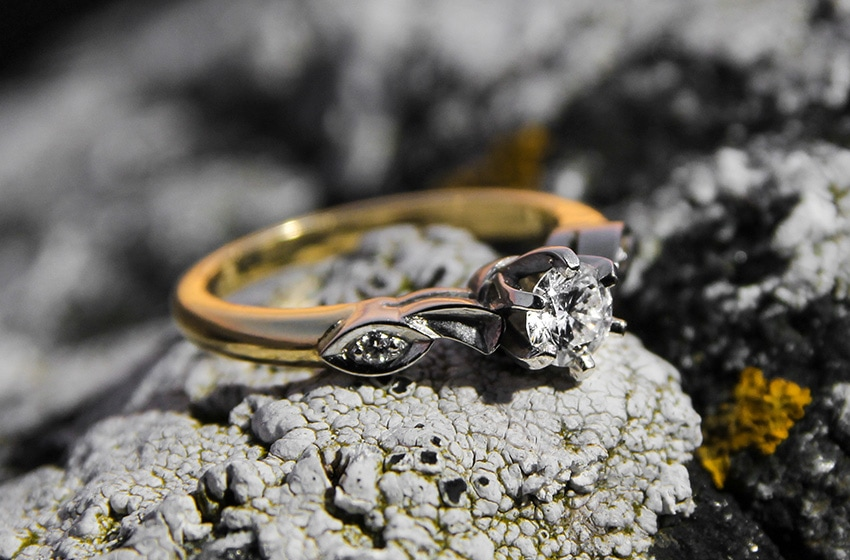 Custom Engagement Ring designed by Michael Aldridge