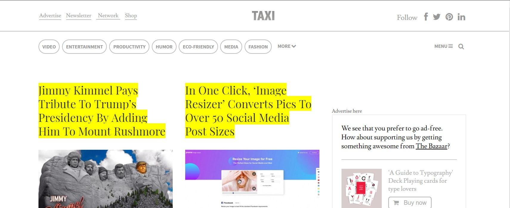 Taxi Design Blog