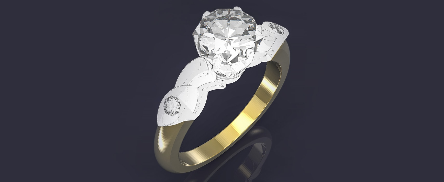 3D CAD model of engagement ring concept