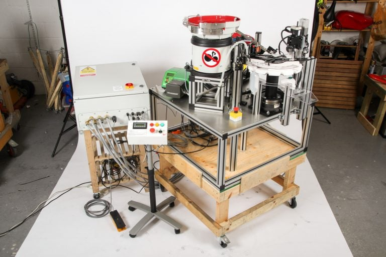 Complete Assembly with Electronics of custom Vaccine Bottling Machine