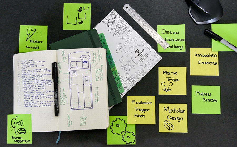 Product Design Concept Generation with PostIt Notes and sketches