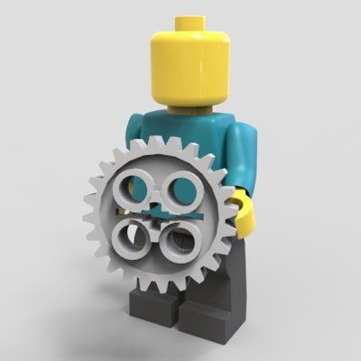 Lego Man holding gear to represent Mechanical Engineer