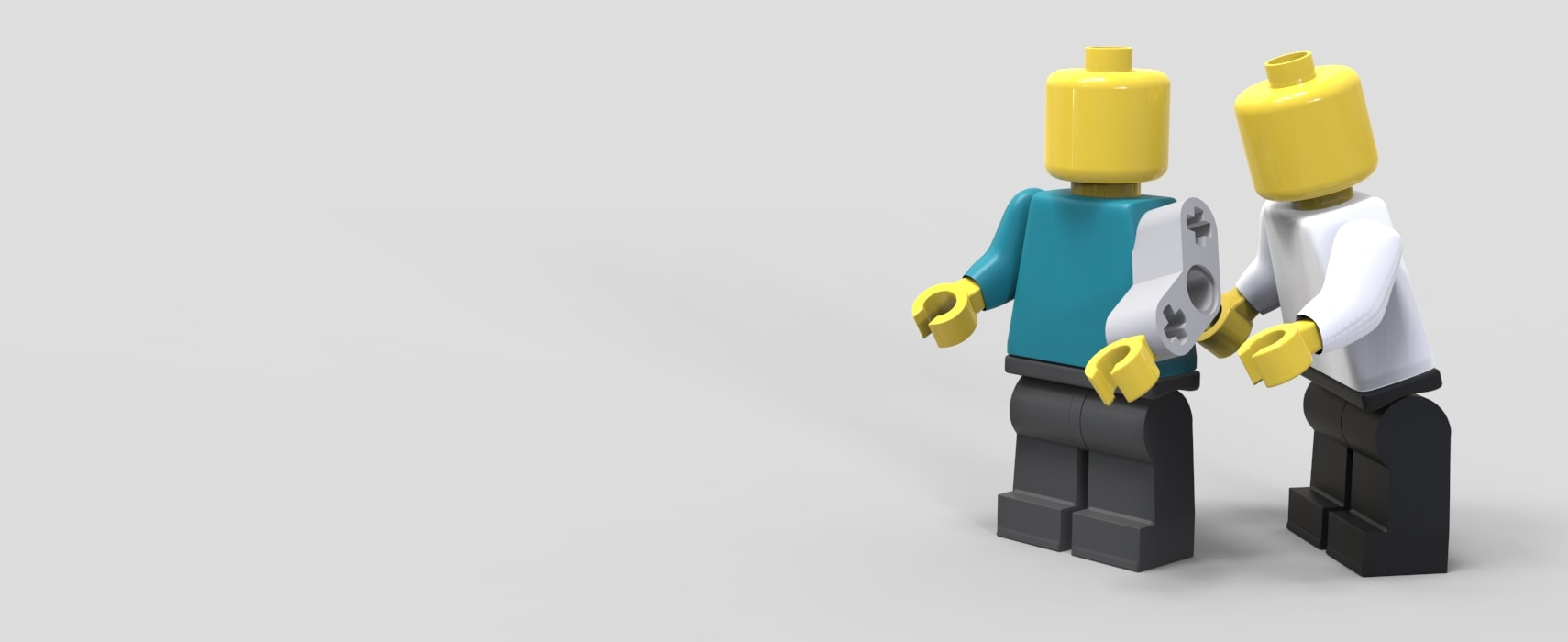Lego man with bionic arm, depicting design of medical devices