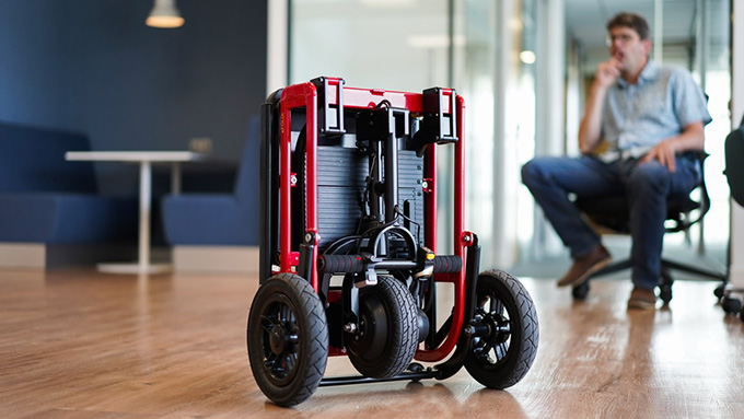 Mobility scooter in office
